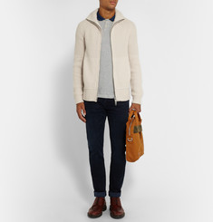 Burberry Brit Ribbed Wool and Cashmere-Blend Cardigan