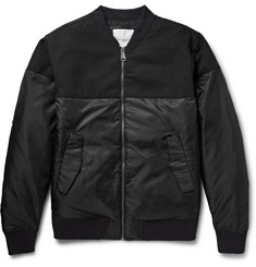 Saturdays Surf NYC Christo Panelled Shell and Cotton-Canvas Bomber Jacket