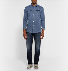 Saturdays Surf NYC Angus Slim-Fit Cotton-Jacquard Shirt