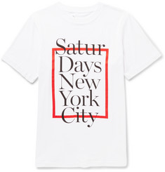 Saturdays Surf NYC Printed Cotton-Jersey T-Shirt