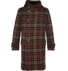 Barena Hooded Double-Breasted Boiled Wool Coat