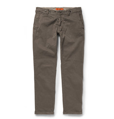 Barena Rampin Slim-Fit Brushed Stretch-Cotton Trousers