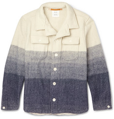 Billy Reid Trey Dégradé Wool Shirt Jacket