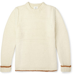 Billy Reid Contrast-Trim Wool Sweater