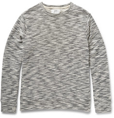 Billy Reid Benji Mélange Knitted Cotton-Blend Sweatshirt