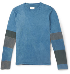 Billy Reid Panelled Long-Sleeve Cotton-Jersey T-Shirt