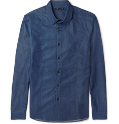 Theory Silas Cotton-Chambray Shirt