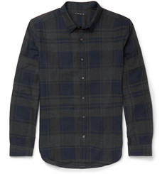 Theory Zack Slim-Fit Checked Cotton Shirt