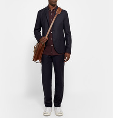 Steven Alan Midnight-Blue Oliver Slim-Fit Wool-Flannel Blazer