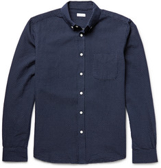 Steven Alan Classic Collegiate Pin-Dot Cotton Shirt