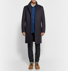 Steven Alan Wool-Blend Scuba-Jersey Overcoat