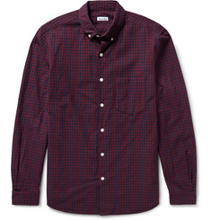 Steven Alan Button-Down Collar Gingham Cotton-Flannel Shirt