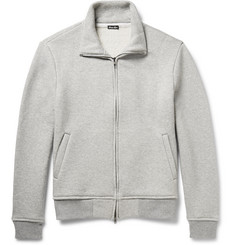 Steven Alan - Funnel-Neck Wool and Cotton-Blend Jersey Sweatshirt