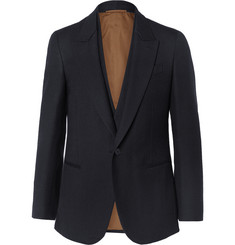 Berluti Midnight-Blue Slim-Fit Double-Layered Wool Blazer