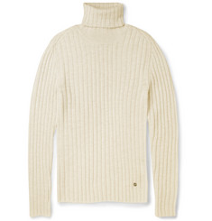 Gucci Ribbed Alpaca and Wool-Blend Turtleneck Sweater