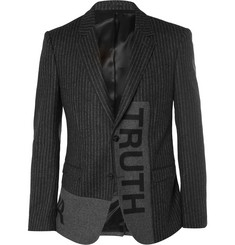 Alexander McQueen Truth Charcoal Slim-Fit Pinstriped Wool Jacket