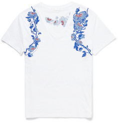 Alexander McQueen Embroidered and Printed T-Shirt