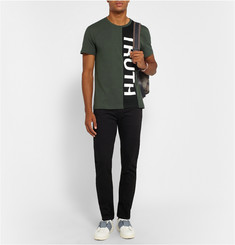 Alexander McQueen Truth Printed Cotton-Jersey T-Shirt