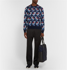 Alexander McQueen Floral-Intarsia Knitted Sweater