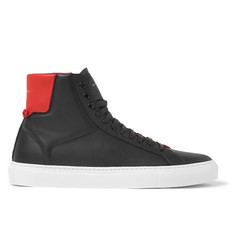 Givenchy Two-Tone Leather High-Top Sneakers