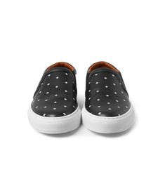 Givenchy Cross-Print Leather Slip-On Sneakers