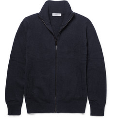Burberry London Brushed-Cashmere Zip-Up Cardigan