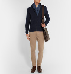 Burberry London Zip-Up Brushed-Cashmere Cardigan