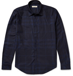 Burberry London - Slim-Fit Checked Cotton-Poplin Shirt