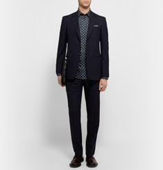 Burberry London Slim-Fit Polka-Dot Cotton-Poplin Shirt