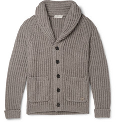 Burberry London Cowper Slim-Fit Shawl-Collar Wool and Cashmere-Blend Cardigan
