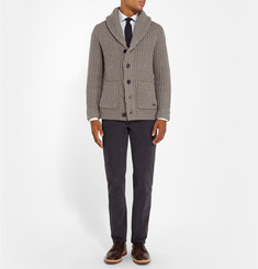 Burberry London Slim-Fit Shawl-Collar Wool and Cashmere-Blend Cardigan