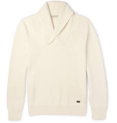 Burberry London Shawl-Collar Wool-Blend Sweater