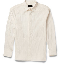 Issey Miyake Crinkled Stretch-Cotton Shirt