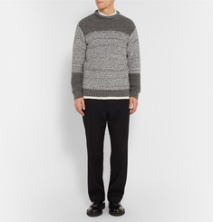 Issey Miyake Striped Wool-Blend Bouclé Sweater