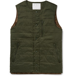 White Mountaineering Herringbone-Woven Padded Cotton Gilet