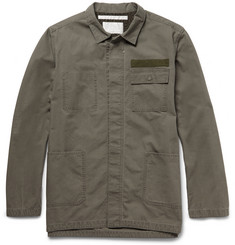 White Mountaineering Washed-Cotton Utility Shirt