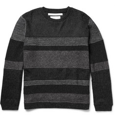 White Mountaineering Panelled Knitted Sweater