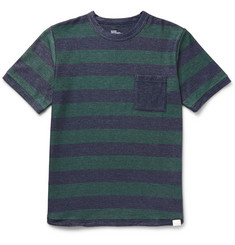 White Mountaineering Striped Cotton-Blend Piqué T-Shirt