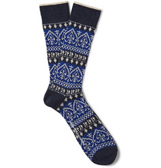 White Mountaineering Fair Isle Knit Socks