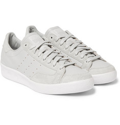 White Mountaineering + adidas Originals Nastase Vintage Leather and Suede Sneakers