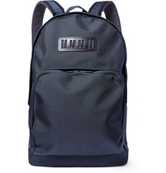 White Mountaineering Leather-Trimmed Tech-Canvas Backpack