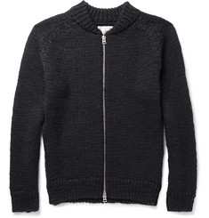 Our Legacy Slim-Fit Zip-Up Wool Sweater