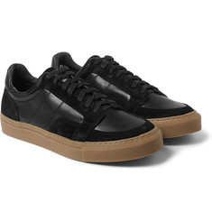 Our Legacy Pirate Leather and Suede Sneakers