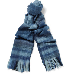 Our Legacy Plaid Brushed Wool-Blend Scarf