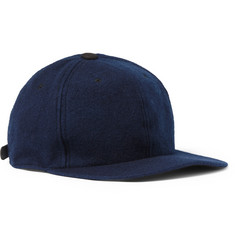 Blue Blue Japan Indigo-Dyed Melton Wool-Blend Baseball Cap
