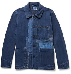 Blue Blue Japan Patchwork Woven Cotton Jacket