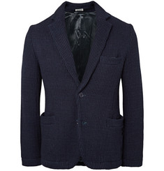 Blue Blue Japan Indigo Slim-Fit Waffle-Knit Cotton Blazer