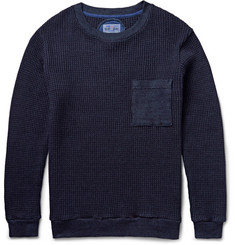 Blue Blue Japan Waffle-Knit Cotton Sweater