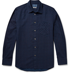 Blue Blue Japan Slim-Fit Houndstooth Cotton-Flannel Shirt