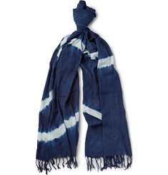 Blue Blue Japan Shibori-Dyed Cotton Scarf